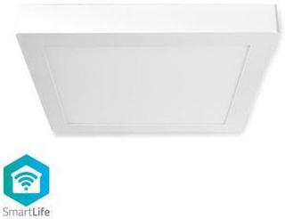 Nedis Smart taklampa med Wi-Fi | Kvadratisk | 30 x 30 cm | Varmvitt till kallvitt ljus | Fullfärg (RGB) | 1400 lm | 18 W | Tunn design | Aluminium