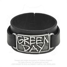 Green Day: Leather Wrist Strap/Logo