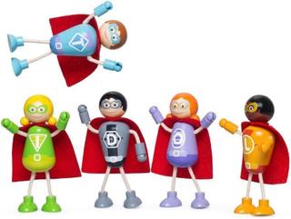 Superhelte sæt med 5 dukker