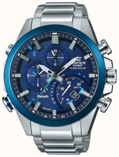 Casio EDIFICE Smartphone Link Bluetooth Dual World Time Uhr EQB-501DB-2A - Blau