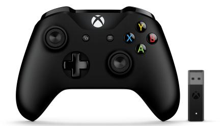 Xbox-ohjain ja langaton Windows-sovitin