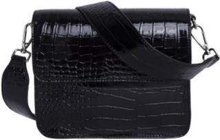 HVISK Cayman Shiny Strap Bag, Black