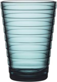 Iittala Aino Aalto glass 33 cl havsblå 2 stk
