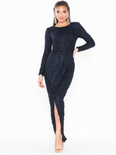 NLY Eve Padded Sequin Lace Gown Paljettklänningar