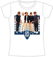 One Direction: Ladies Tee/One Ivy League Stripes with Skinny Fitting (X-Large)
