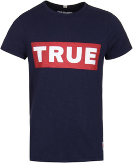True Religion Block True Navy Logo Tee Marinen XXL (44