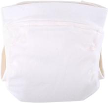 Popolini - EasyFree Bio Baumwoll (Interlock) - Windel mit Abhaltefunktion - Ecru - S (~ 2,5 - 5 kg)