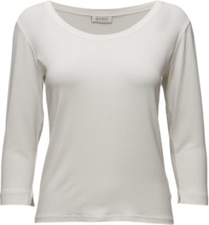 Cream Top Fitted 3/4 Slv Basic Langærmet T-shirt Hvid Masai