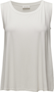Elisa Top A-Shape N/S Basic Top Ærmeløs Top Creme Masai