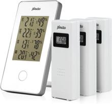 Alecto trådløs vejrstation med 3 sensorer hvid WS-1330