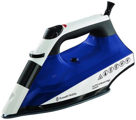Russell Hobbs Auto damp Pro keramiske jern 2400 W - hvid / blå (Mod...