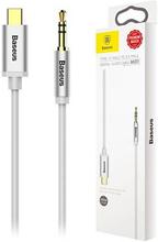 Baseus M01 USB-C / 3.5mm Lydkabel - 1.2m - Sølv