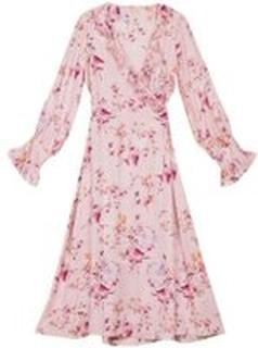 Rosa By Timo Satin Wrap Dress Klær