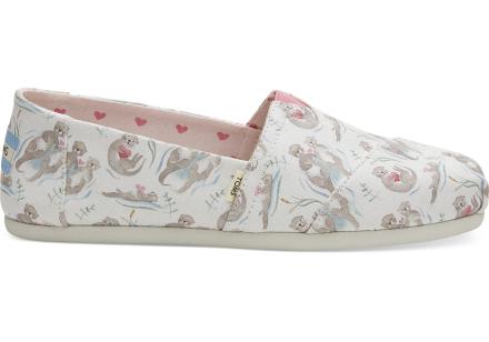 TOMS Schuhe Love Otters Canvas Classics Für Damen - Größe 40