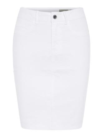 VERO MODA Hw Denim Pencil Skirt Women White