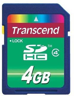 Transcend SDHC Hukommelseskort TS4GSDHC4 - 4GB
