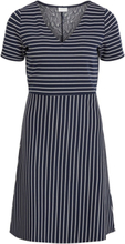 VILA Striped Dress Women Blue