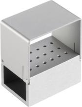 Oppbevaringsboks i aluminium for 18 bits