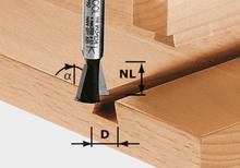 Festool HW S8 D14,3/13,5/15° Grad-/sinkfräs 8mm spindel