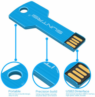 Usb 2.0 minne flash (metall) 8gb vattentät