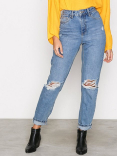 Topshop Topshop MDT Rip Mom Jeans Loose fit Denim