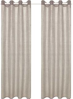 vidaXL Gardiner 2 st skira randvävda 140x175 cm beige