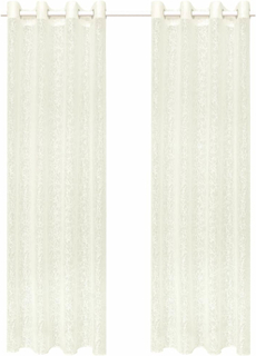 vidaXL tynde gardiner 2 stk. skævtstrikket 2 stk. 140 x 175 cm grene cremefarvet