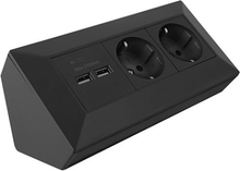 Hörnbox med USB & Eluttag Antracit