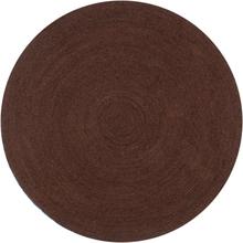 vidaXL Handgjord jutematta rund 120 cm brun