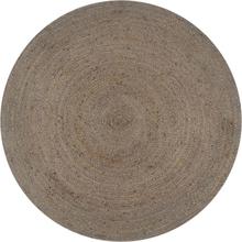 vidaXL Handgjord jutematta rund 120 cm grå