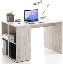FMD Skrivbord med sidohyllor 117x73x75 cm sand/ek 366-001