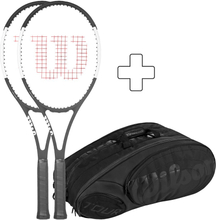 Wilson 2x Pro Staff 97 CV Plus Tennistasche Griffstärke 3