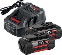 Bosch GAL 3680 CV + 2st 36V 6,0Ah Laddpaket 2st 36V 6,0Ah Li-Ion
