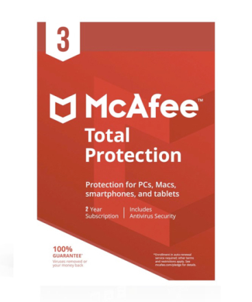 McAfee Total Protection 2018 - 3 PC / 2 år