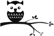 Seinätarrat Wall decor Väggtext Owl sivuliikkeen