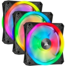 Corsair iCUE QL120 RGB (3-pack) - Kabinet-blæser - 120mm - 1500rpm - PWM - 26 dBA - 41.8 kubikfod/min - Inkl. 1 x Lighting Node CORE