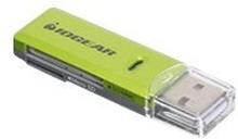 IOGEAR SD/MicroSD/MMC Card Reader/Writer GFR204SD - Kortlæser (MMC, SD, RS-MMC, microSD, SDHC, microSDHC, SDXC) - USB 2.0
