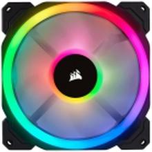 CORSAIR LL Series LL140 RGB Dual Light Loop - Indsats med blæser - 140 mm - hvid, blå, gul, rød, grøn, orange, violet - 14 cm (pakke med 2)