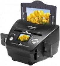 Reflecta 64220, 1800 x 1800 dpi, 24 Bit, Film/slide scanner, Sort, LCD, 6,1 cm (2.4) Læser max 32 GB. hukommelses kort.