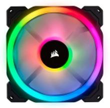 CORSAIR LL Series LL140 RGB Dual Light Loop - Indsats med blæser - 140 mm - hvid, blå, gul, rød, grøn, orange, violet