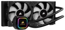 CORSAIR iCUE H100i RGB PRO XT - Processors flydende kølesystem - (for: LGA1156, LGA1155, LGA2011, LGA1150, LGA1151, AM4, LGA2066, LGA1200) - aluminum