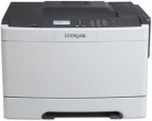 Lexmark CS410dn Farvelaserprinter, 1200 x 1200 dpi, 30 sider/min Farve & S/H, Duplex, Farve display - For trådløs funktion, kræves der ekstra tilbeh