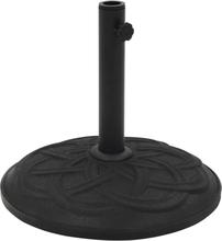 vidaXL Parasollfot svart betong rund 15 kg