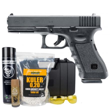Glock 17 Airsoft - Gass med Blowback - PAKKE