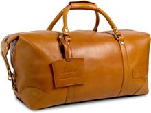 Weekendväska II i läder - Cognac