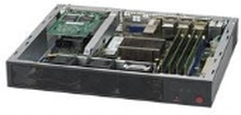 Supermicro SuperServer E300-8D - Server - Mini-1U - envejs - 1 x Xeon D-1518 / 2.2 GHz - RAM 0 GB - ingen HDD - AST2400 - GigE, 10 GigE - intet OS -