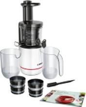 Bosch MESM500W, Slow juicer, Sort, Hvid, 150 W, 208 mm, 500 mm, 5,6 kg