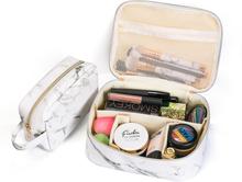 Tragbare comestic Tasche Marmor Make-up Veranstalter Fall Aufbewahrungstasche Reisetasche schwarz weiß zwei Größe