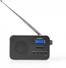 "DAB + Radio | Portabel design | DAB+ / FM | 1.3 "" | Svart Blå Skärm | Batteridriven | Digital | 3.6 W | Hörlursuttag | Väckarklocka | Sov timer | Svart"