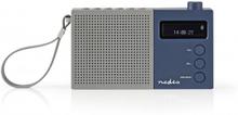 Digital DAB+-radio   4.5 W   FM   Klocka och alarm   Grå/blå